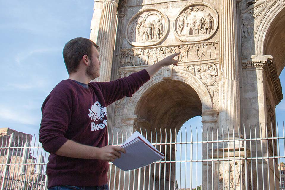 Student at the Archway in Rome
