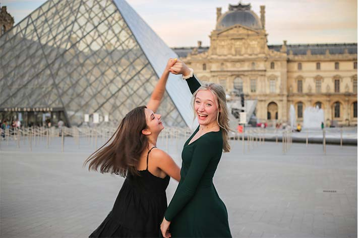 Students at the Louvre