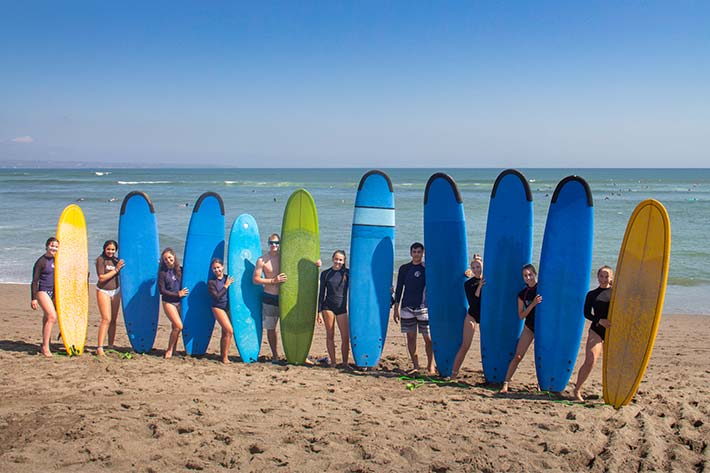 Students surfing