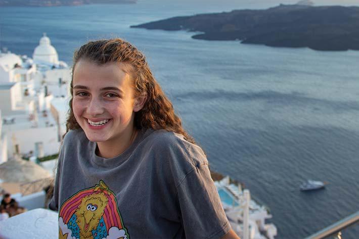 Student in Santorini