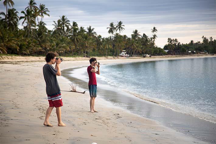 Students on Pangani Beach
